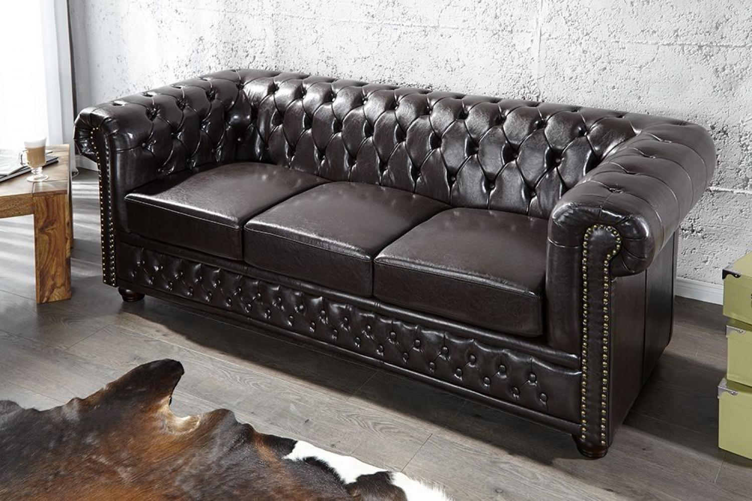Canapé cuir chesterfield pas cher promo