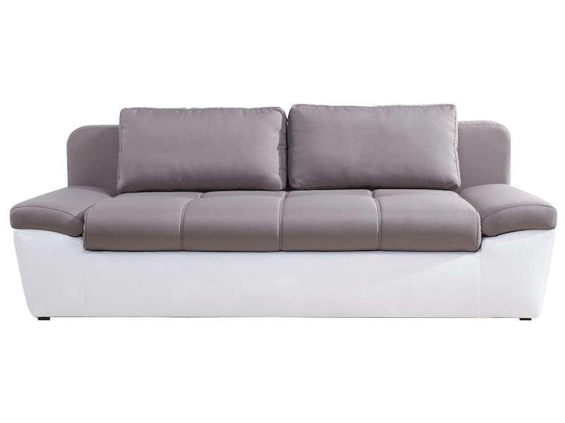 Canape convertible taupe pas cher promo