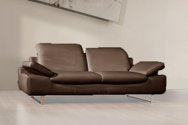 Canape taupe cuir pas cher promo